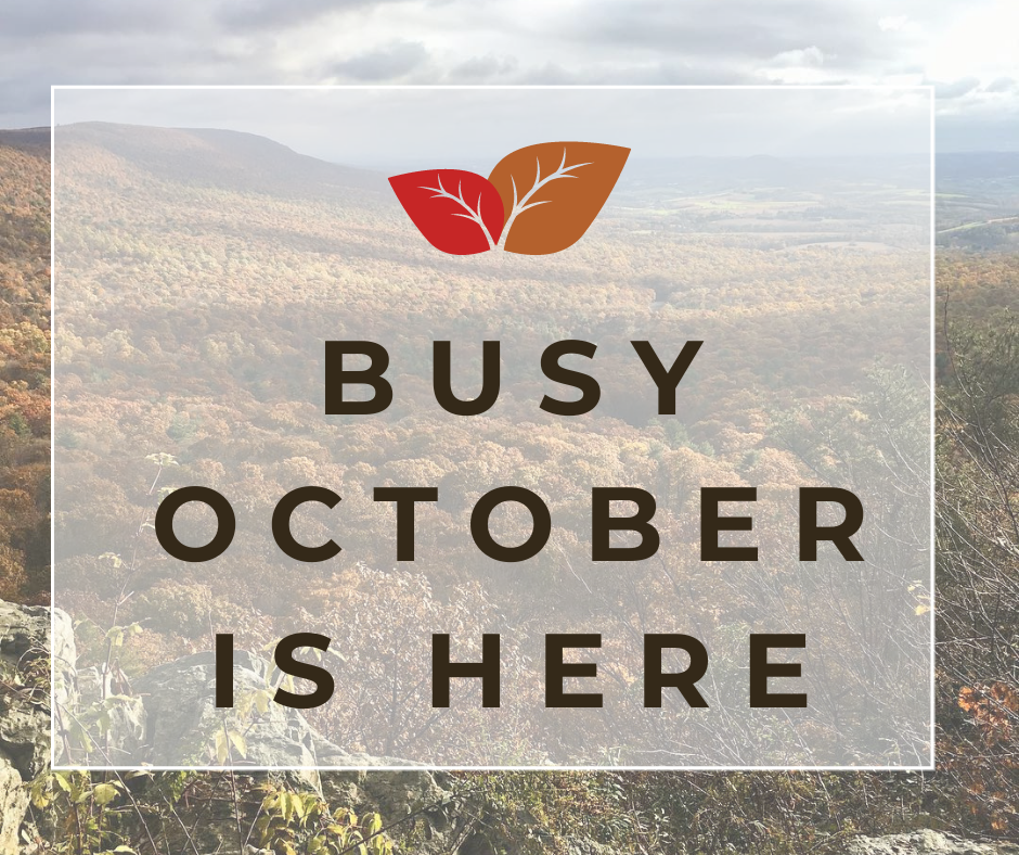 Busy October is Here