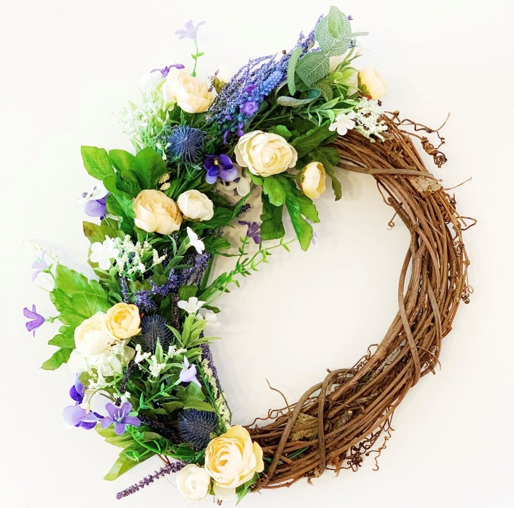 Spring Floral Wreath Example